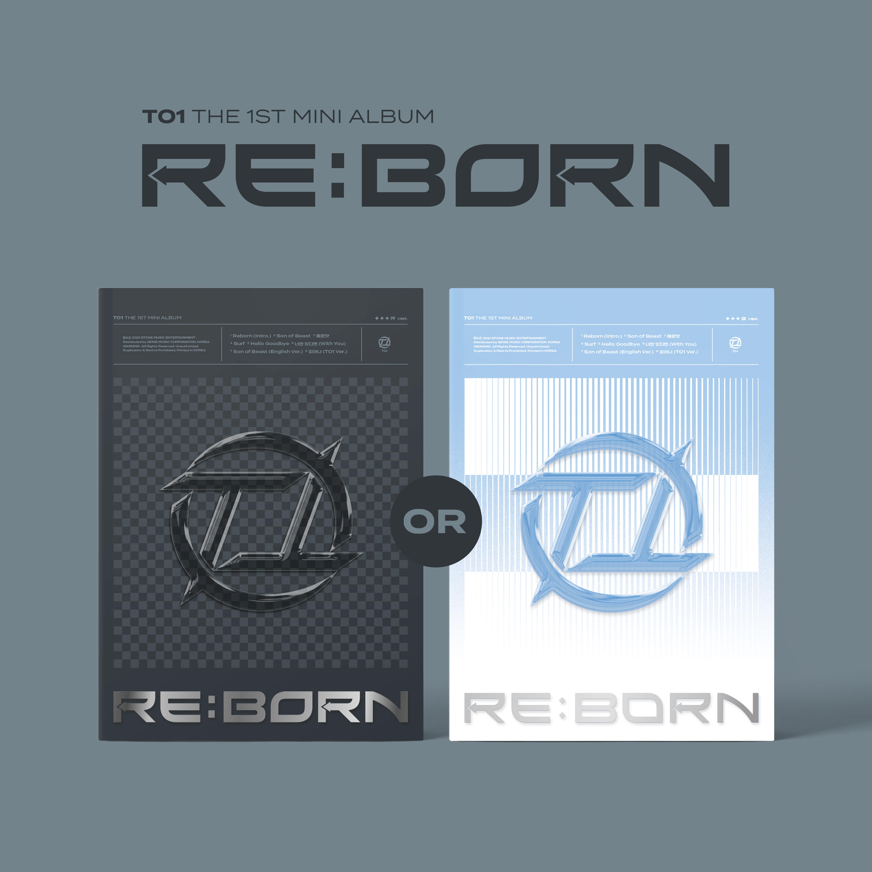 티오원(TO1) - 1st Mini Album [RE:BORN] (Random ver.)케이팝스토어(kpop store)