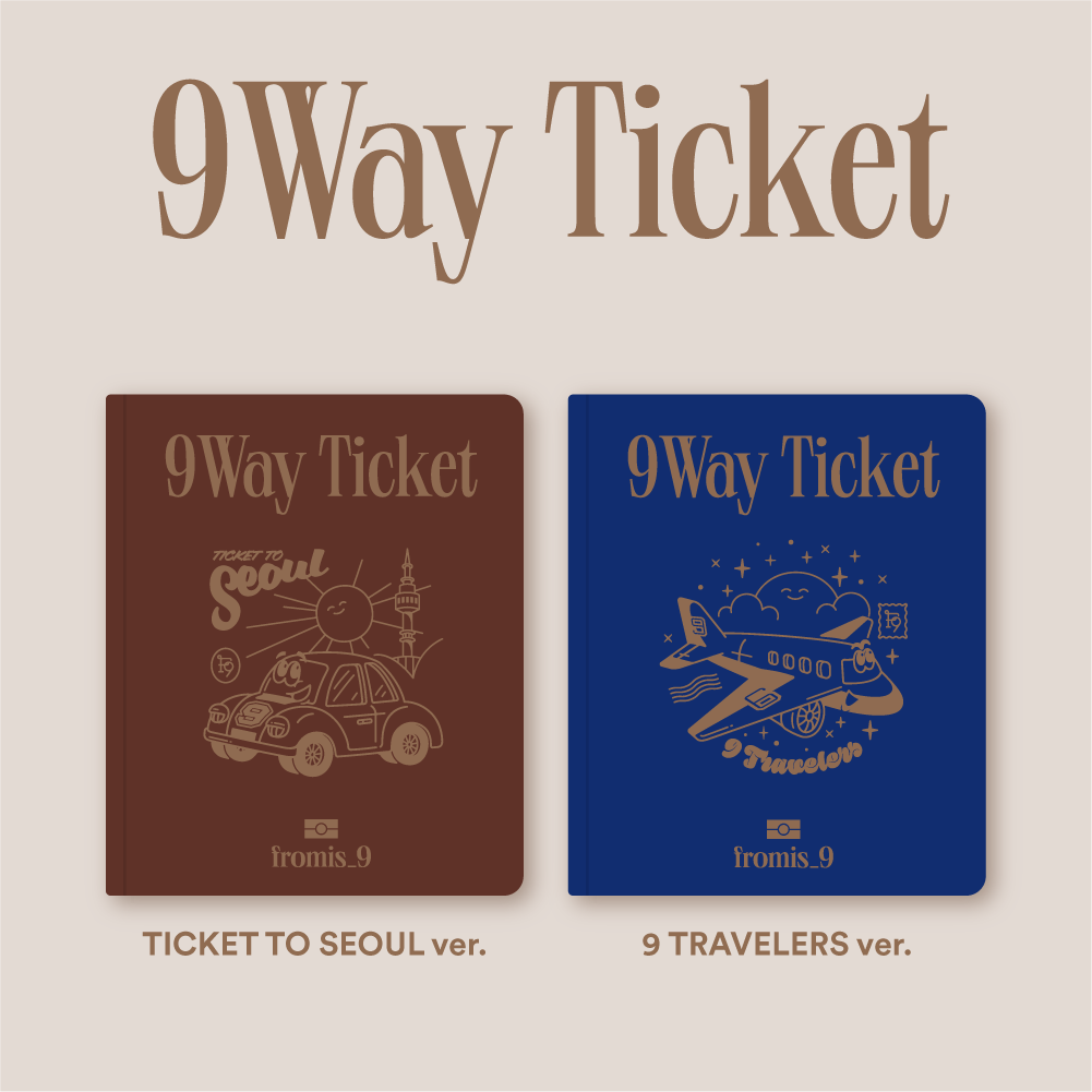 프로미스나인(fromis_9) - 2nd Single Album [9 WAY TICKET] (TICKET TO SEOUL ver. + 9 TRAVELERS ver. = 2CD SET)케이팝스토어(kpop store)