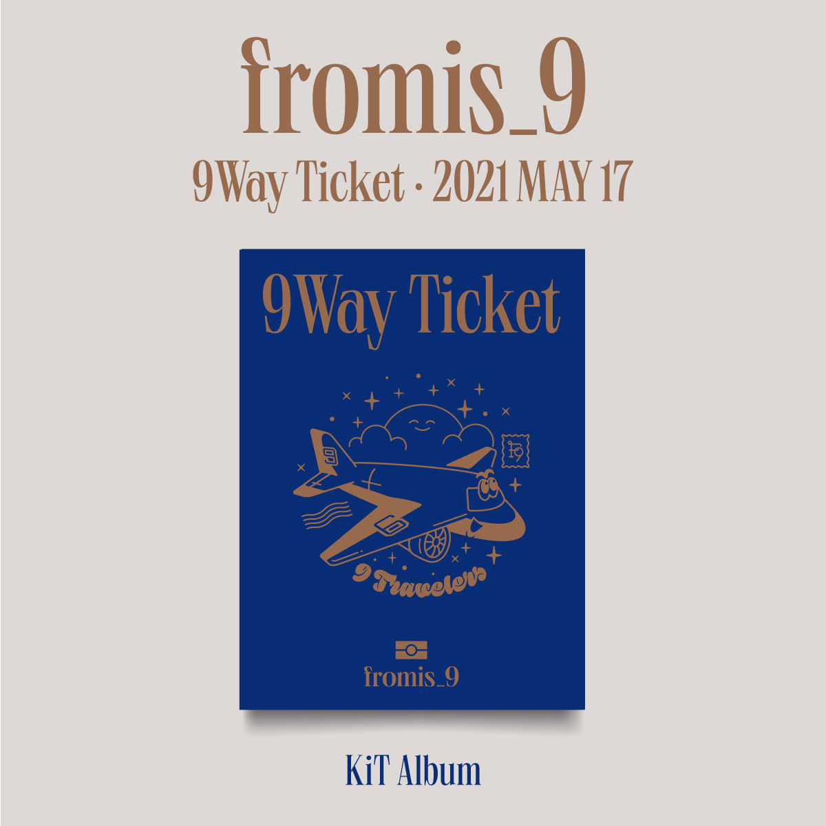프로미스나인(fromis_9) - 2nd Single Album [9 WAY TICKET] (Kit Album)케이팝스토어(kpop store)